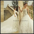 2015 bridal luxury vintage new fashion strapless lace rhinstone beautiful pakistani wedding dresses made in china