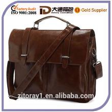 Men's Business Genuine Leather Briefcase Laptop CrossBody Messenger Sling Bag