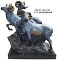 億- 1439真鍮動物の置物、 真鍮の羊の彫像、 屋内のための真鍮の像