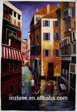 little brush stroke good quality impressionist venice oil painting