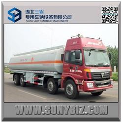 8x2 foton truck 28cbm tanker truck 30cbm oil truck