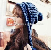 fashion crochet knit beanie with earflap