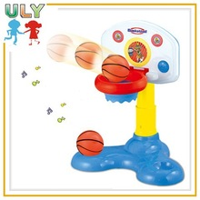 Cheap baby games battery toy electronic basketball hoop misical toy baby games