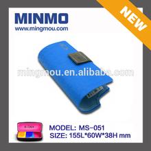 blue leather novelty belt folding glasses case