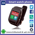 dual core android smart watch mobile phone with wifi sim card