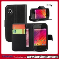 cell phone high quality pu book flip leather case for wiko ozzy,for wiko ozzy case