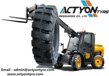 Feichi forklift solid tires new solid tires