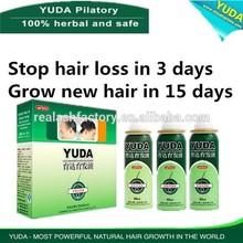 YUDA hair loss solution oil/china hair growth oil/ayurvedic herbal hair oil for hair growth Real Plus factory produces