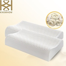 Bedroom and Home Furniture Natural Latex Curve Pillow for Neck Orthopaedic Function