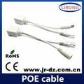 Power over ethernet poe passivo adaptador injetor + divisor kit 5v 12v 24v 48v
