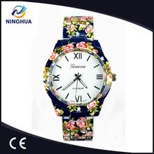 Good Price Flower Printing Geneva Quartz Watches