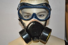 double filter respirator mask for fumes / chemical toxic gas