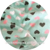 heart print polar fleece fabric