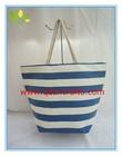 Fashion new design women's navy strip beach bag