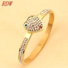 Gold Finish High Quality Lastest Fashion Female's 18k Gold Bangle, unique plain gold bangles