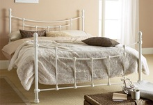 Wrought iron double bed in latest modern design by factory DB-4729