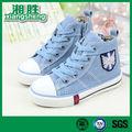 la lumière bleue chaussures de toile confortable avec de la dentelle