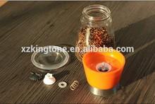 2015 Xuzhou Kingtone Orange Ceramic Core Pepper and Salt Grinders Mini Spice Mill For A Enjoyable Kitchen Life