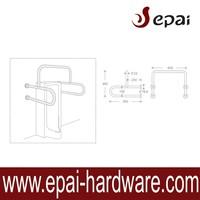 Foshan Manufacturer Stainless Steel Grab Bars /Handrail For Men Toilet