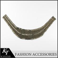 Free sample! Fashion Black Rhinestone Beaded Collar Necklace Fake Collar Choker Collar Necklace women 's clothing accessories