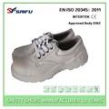 blanco sf691 anti deslizamiento de acero del dedo del pie zapatos de vestir