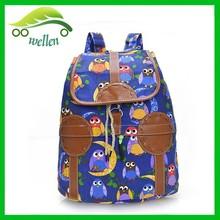 2015 funny school bag ethnic canvas backpack bag wholesale