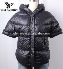 2015 trendy lightness short style spring black down jacket for young girl