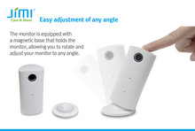 Magnetic base for 360C placement camera wireless home monitor JH08