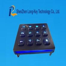 Auto stainless steel metal keypad backlight