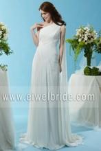 New Simple One Shoulder Chiffon Wedding Dress Ready To Ship SL073