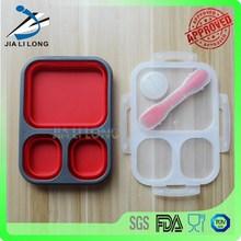 FDA ,LFGB and SGS silicone hot sale office lunch box