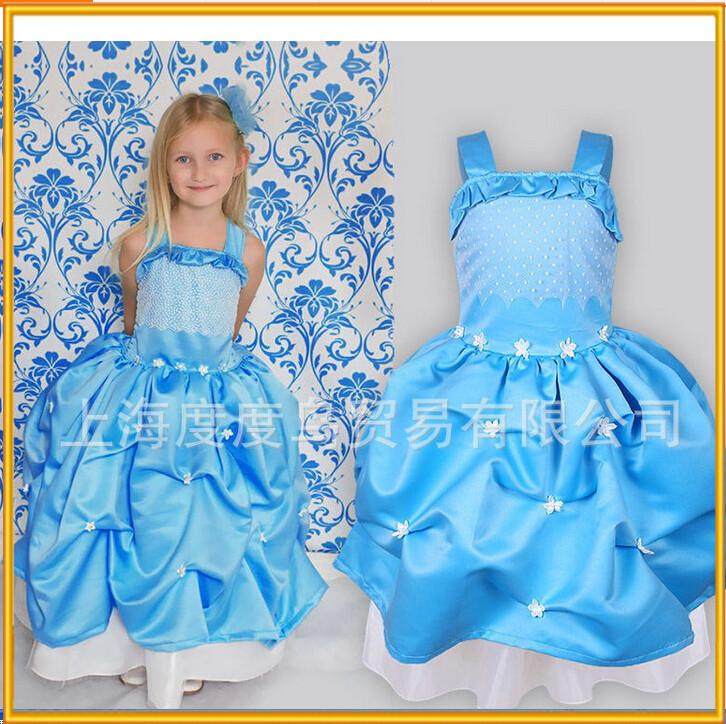 Nuovo arrivo 2-7 anni ragazza vestito per la festa, party girl indossare abiti occidentali, vestito di compleanno baby girl abito da sposa ingrosso