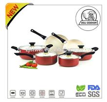 10PCS Pressed Non-stick Aluminium Ceramic Coating New Cooking Products