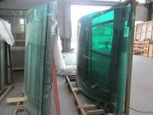 glass manufacurer top quality clear/ultra clear/F green curved tempered glass