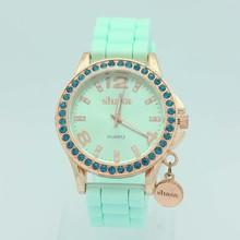 2015 New arrival lady watch, fashion lady vogue watch, women stone watch