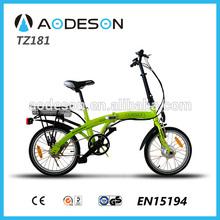 2015 new design mini folding bicycle/italian electric bike 8fun motor 24v li-ion battery electric bike with CE EN15194 approval