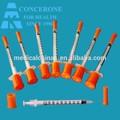 Equipamento médico 0.5cc 1cc seringa de insulina/insulina calibre da agulha