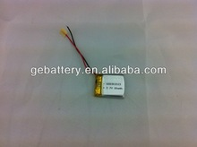 3.7V li-ion battery 80mah Rechargeable Lithium Battery