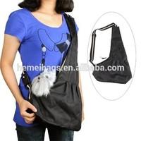 Black Puppy Dog Strap Pet Sling Carrier Bag