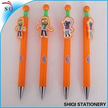 Cartoon Clip Click Plastic Ball Pen