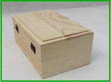 Economical Wooden Candle Box With Hinged Lid