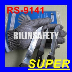 RILIN SAFETY Hot sell Black TPR grooming tool bath glove for dogs ,Short-sleeve metal safety gloves