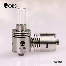 Ecig wax vaporizer pen, smoking pen vaporizer,OBS Bottom dual coils atomizer wax atomizer