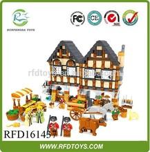 Educational toys 884pcs diy happy farm building block,wholesale building block