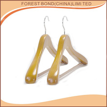 Clothing Store Clothes Suit Wooden Hanger With Anti-skidding Plastics Tube