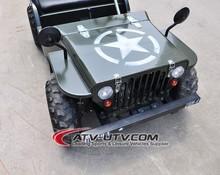 125cc mini jeep willys new style, cheap mini atv ,electric car