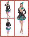 2015 caliente venta al por mayor de quanzhou las mujeres vestidos de fantasía azul alice wonderland reina de halloween disfraces cosplay