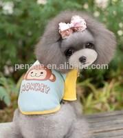 lovely monkey printing dog shirt dog clothes wholesale
