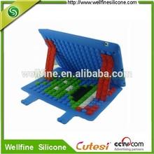 Mini DIY puzzle blocks silicone tablet cover 9.7