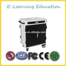 2 doors metal cloth ipad/laptop/tablet storage charging cabinet / cart